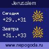 Прогноз погоды в городе Jerusalem