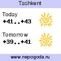 Weather forecast for Tashkent