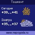 Прогноз погоды в городе Ташкент