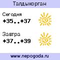 Прогноз погоды в городе Талдыкорган