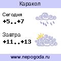 Прогноз погоды в городе Каракол