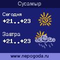 Прогноз погоды в городе Сусамыр
