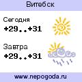 Прогноз погоды в городе Витебск
