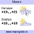 Прогноз погоды в городе Минск