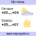 Прогноз погоды в городе Могилев
