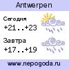 Прогноз погоды в городе Antwerpen