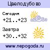 Прогноз погоды в городе Цвелодубово