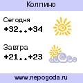 Прогноз погоды в городе Колпино