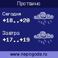 Прогноз погоды в городе Протвино