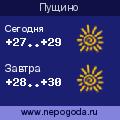 Прогноз погоды в городе Пущино
