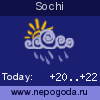 Weather forecast for Sochi