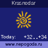 Weather forecast for Krasnodar