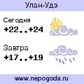 Прогноз погоды в городе Улан-Удэ