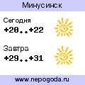 Прогноз погоды в городе Минусинск