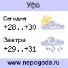 Прогноз погоды в городе Уфа