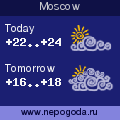 Weather forecast for Moscow
