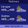 Прогноз погоды в городе Рыбинск