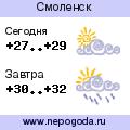 Прогноз погоды в городе Смоленск