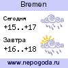 Прогноз погоды в городе Bremen