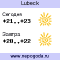 Прогноз погоды в городе Lubeck